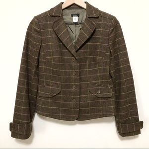 J. Crew | Wool Plaid Blazer